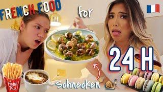 🇫🇷 24h French Food essen 😂 (SEND HELPP omg) -Adorable Caro