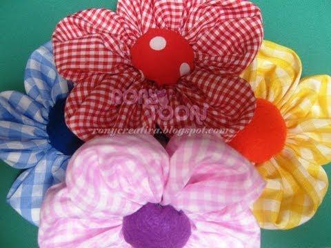 Flores de tela con aroma mothers day flowers diy youtube - Flores de telas hechas a mano ...