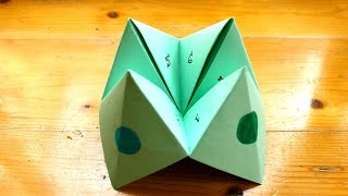 How to make a paper fortune teller or chatterbox
