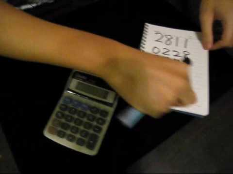 cheng su - magic tricks -number prediction