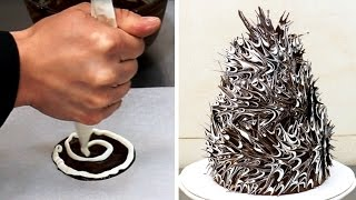 Most Dangerous Chocolate Cake - Chocolate Decorating Technique