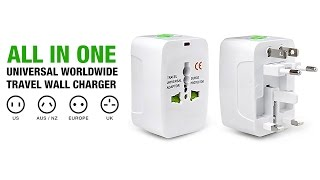 100-250V Input All in One Universal Worldwide Travel Wall Charger