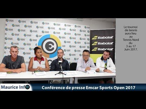 Maurice Info - Conférence de presse Emcar Sports Tennis  Open 2017