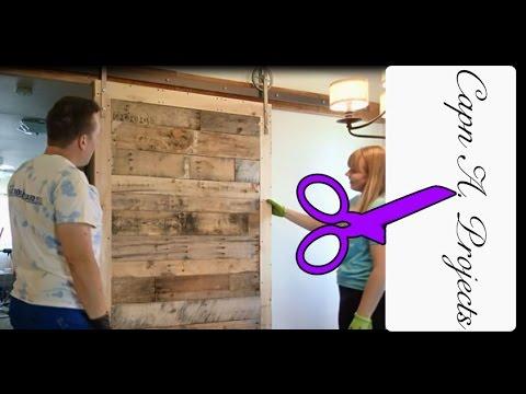 DIY Sliding Barn Door made from PALLET Boards
