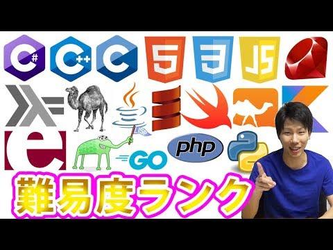 プログラミング言語 難易度ランクを発表!