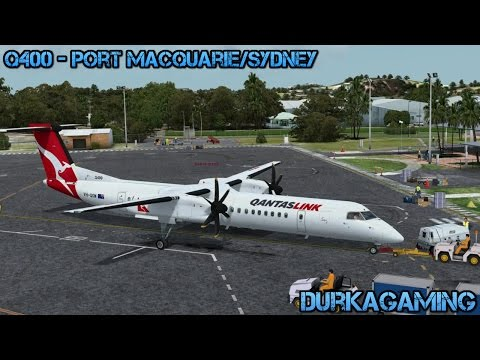 P3D - MAJESTIC Dash Q400 - Port Macquarie/Sydney - YPMQ/YSSY