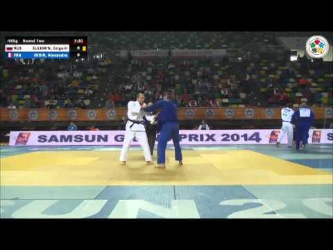 Grigorii SULEMIN (RUS) Vs Alexandre IDDIR (FRA) - Judo Grand Prix Samsun 2014 [-90kg]