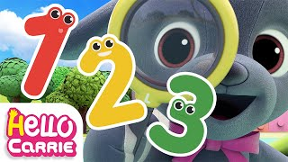 0️⃣Number song9️⃣ Find hidden numbers | 123 song | Hello Carrie Kids Song