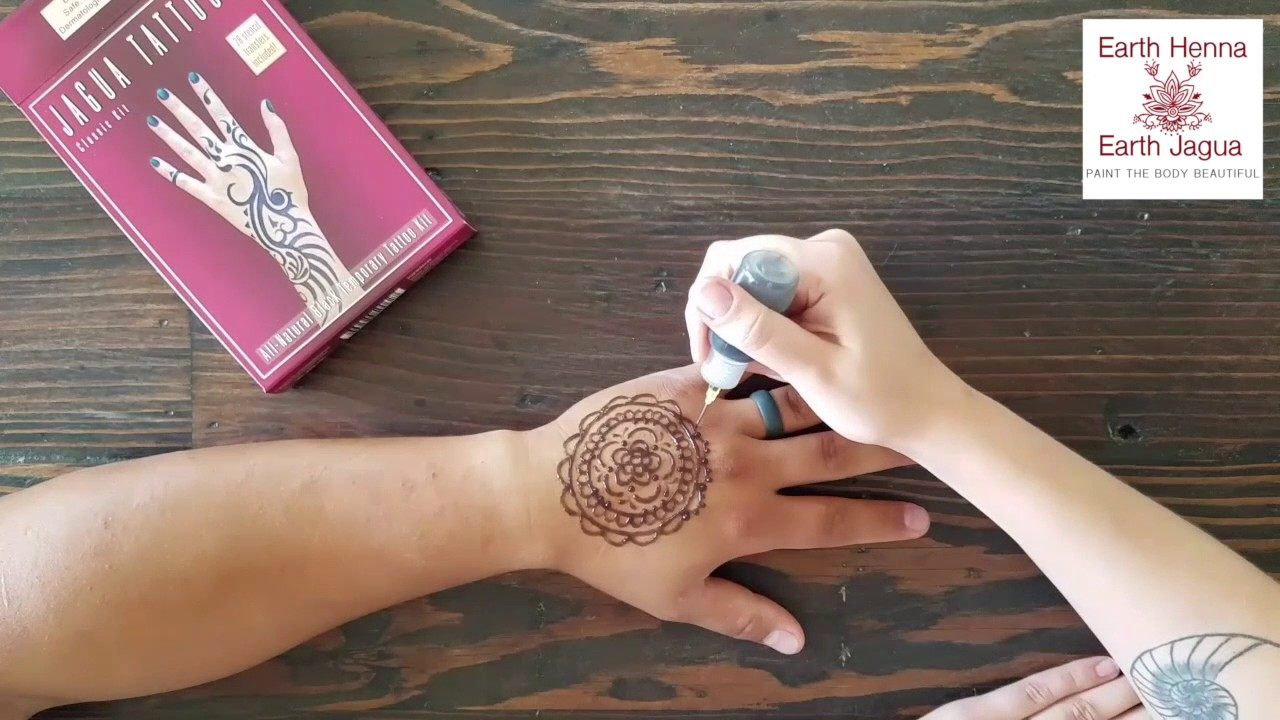 66c7c0f92 Earth Henna - Jagua Mandala (tutorial) - YouTube