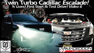 It LIVES! First Test Drive! Cadillac Escalade Armageddon Twin Turbo Spool Sounds Orgasmic! - Video 6