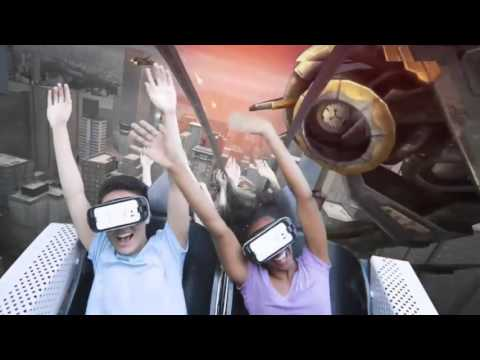 Six Flags the new revolution virtual reality coaster