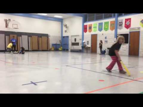 Sophie and Maddie Batting At Hillsmere Elementary School
