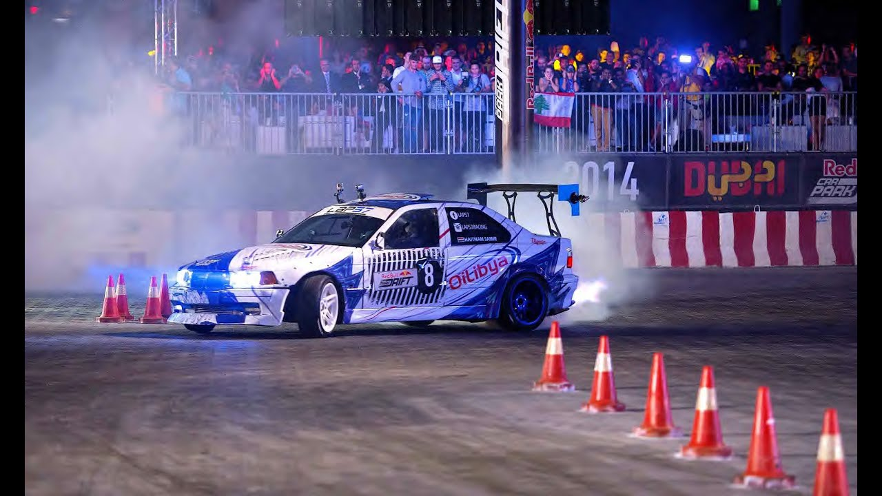 High Speed Drifting In Dubai Red Bull Car Park Drift Grand Final