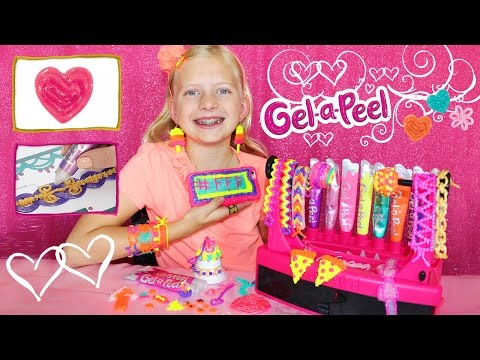 DIY Craft Time Gel-a-Peel    3D Design Station, Making Earrings & Jewelry Out Of GEL!