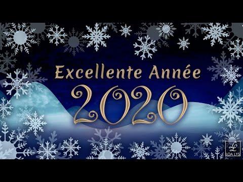 carte bonne annee 2020 Carte virtuelle de vœux 2020   Vidéo de bonne Année 2020   YouTube