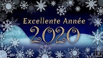 Carte virtuelle de vœux 2020 - Vidéo de bonne Année 2020