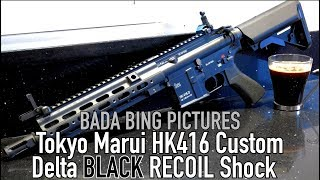 Tokyo Marui HK416 Delta Black Recoil Shock Review