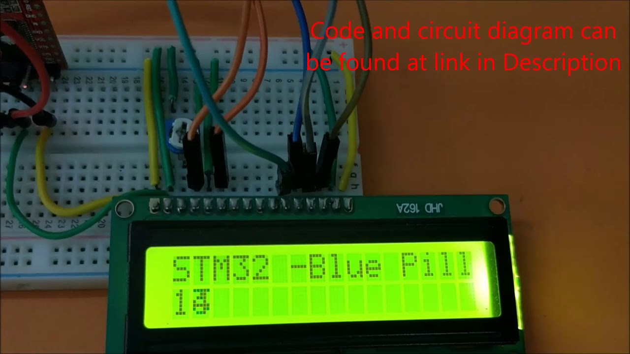 Interfacing LCD with STM32F103C8T6 STM32 Board (Blue Pill)