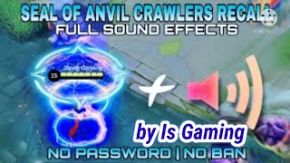 Script Effect Recall Seal of anvil tas tas tas with sound terbaru full effect file backup