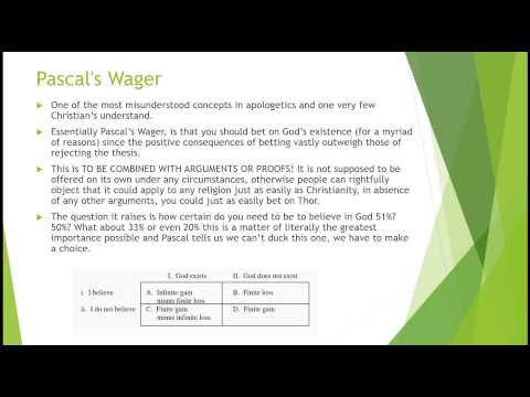 Argument for God Part 1: Cumulative Argument and Pascals Wager (Responsible use)