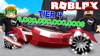 DESTROYING MOST EXPENSIVE TIER 4 CARS in ROBLOX CAR CRUSHERS 2