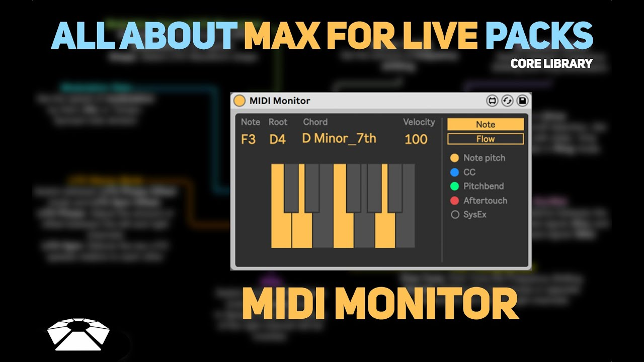 All About Max for Live Packs - MIDI Monitor  Core Library