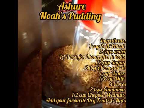 Ashure / Noah's Pudding - YouTube
