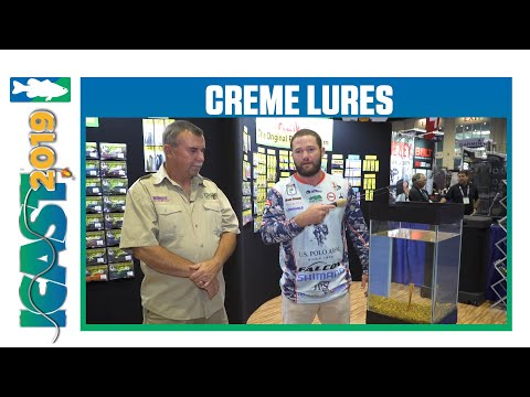 Creme Lures Flip Flop Double Tail Worm With Brett Pruett | ICast 2019