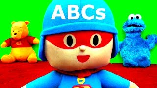 ABCs Song Pocoyo Sings ABC Song Learn in English with Pocoyo Cookie Monster & Winnie the Pooh Bear