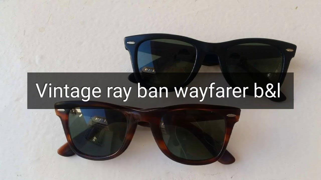 ce8e65b8f2 Vintage ray ban b l usa wayfarer 5024 bausch and lomb L2009 L2053 black and  shell tortoise