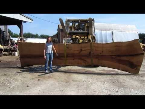 Sawing wide slabs from a 20,000 lb log
