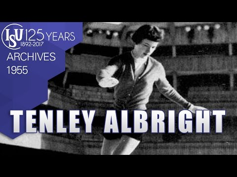 Tenley Albright (USA) - World Championships Vienna 1955 - ISU Archives  USA