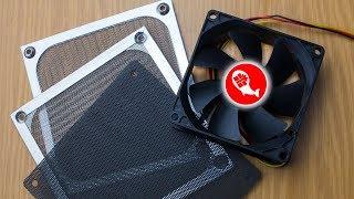 Сравнение двух пылевых фильтров для компьютера | Обзор и тест шума 120мм | Китай