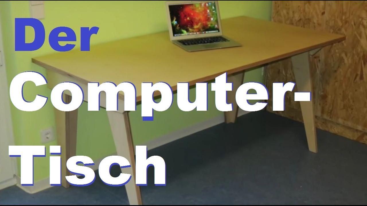 Computertisch – einfach selbst gebaut   youtube