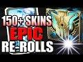 EPIC RE-ROLLS | 150+ SKIN SHARDS - Hextech Chest Opening - League of Legends
