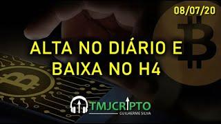 Análise Bitcoin - BTC - 08/07/2020 - ALTA NO DIÁRIO E BAIXA NO 4 HORAS???