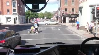 hgv maneuvering through the city driving lesson