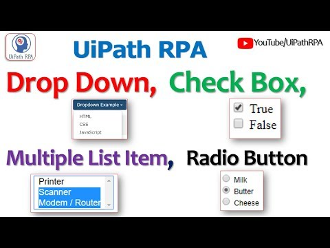 Work with Drop Down Button, Check Box, Radio Button and