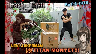 FIRST TIME! UNBOXING STATUE LEVI ACKERMAN VS BEAST TITAN! JUST AMAZING! FINAL SEASON ATTACK ON TITAN
