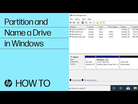 Partition And Name Drives In Windows | HP Computers | HP