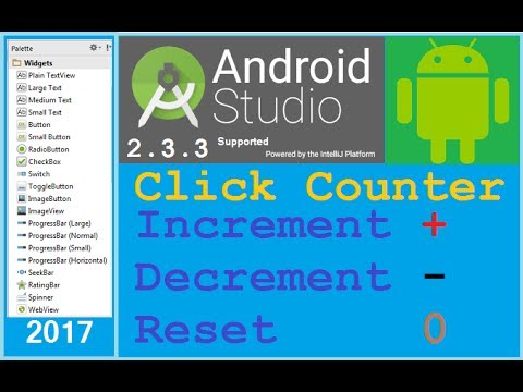 #10 Android Studio Tutorial - How To Count Number Of Button Clicks In Android. NEW