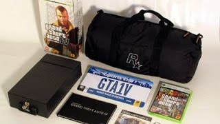 Grand Theft Auto 4 Collectors Edition Unboxing gta 4 Xbox 360 Unboxing