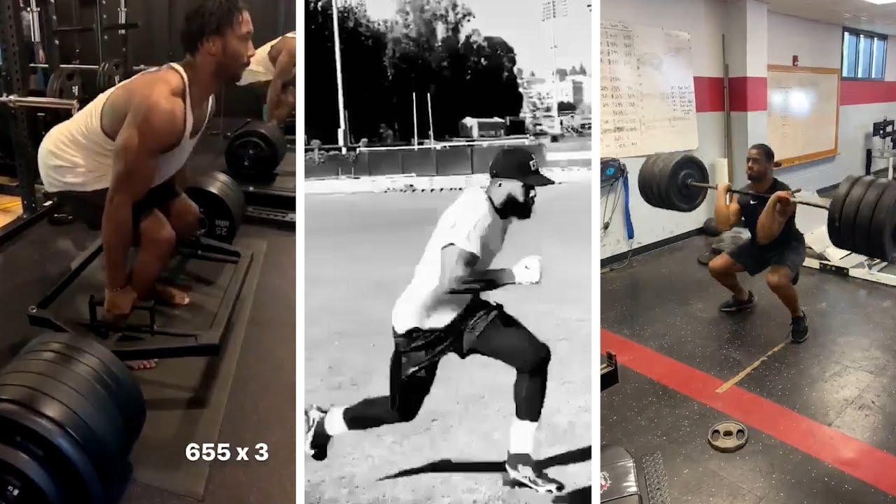 Odell Beckham Jr NEARLY 100 Percent, Nick Chubb & Myles Garrett THROWING UP HEAVY WEIGHT in The Gym!