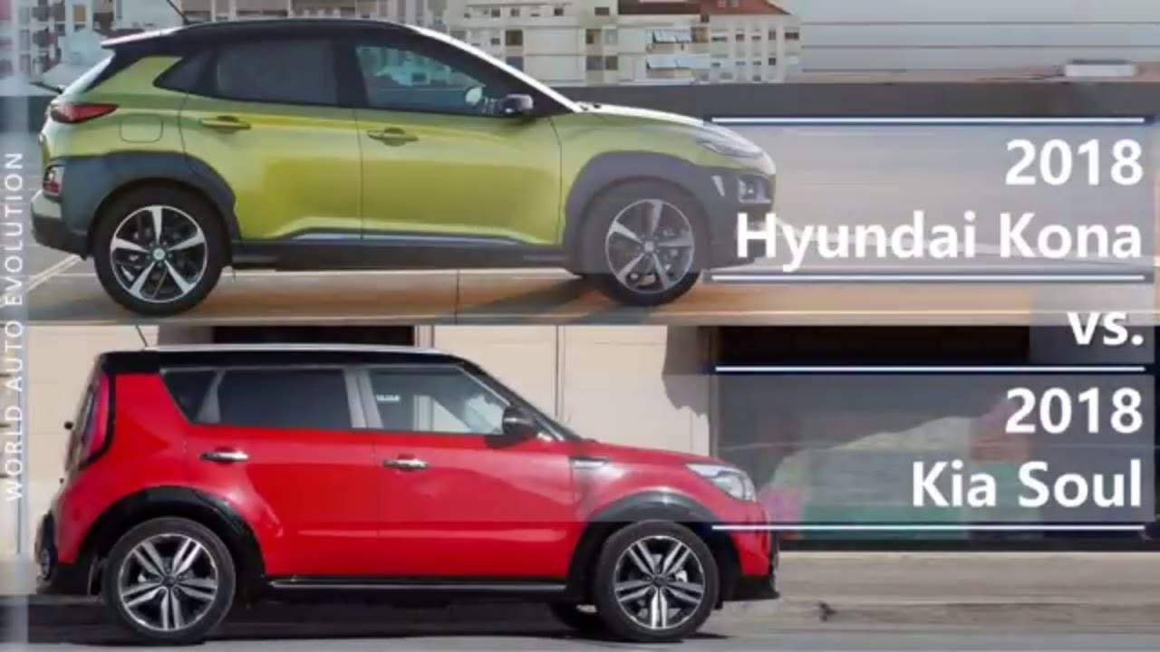 2018 Hyundai Kona Vs 2018 Kia Soul Technical Comparison Youtube