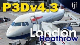 P3D v4.3 - British Airways Airbus A319 departing London Heathrow