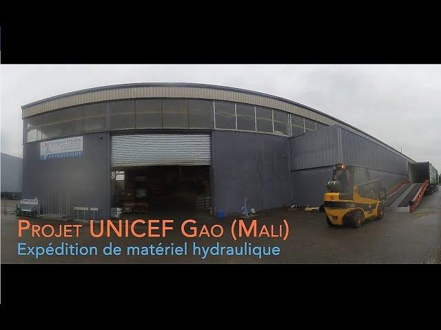 UNICEF Gao (Mali): Expédition de matériel hydraulique