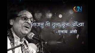 Gajalu Ti Thula Thula Aankha by Ghulam Ali | Karaoke