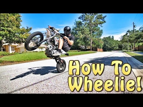 How To Wheelie A Pit Bike!