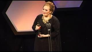 adele ivor novello songwriter of the year award acceptance speech