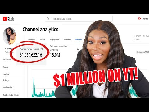 SHOWING YOU HOW I MADE OVER $1,000,000 DOLLARS ON YOUTUBE! ALL MY NUMBERS & HOW I DID IT!